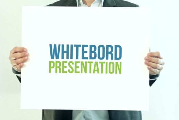 do White Board Video Presentation in Full HD