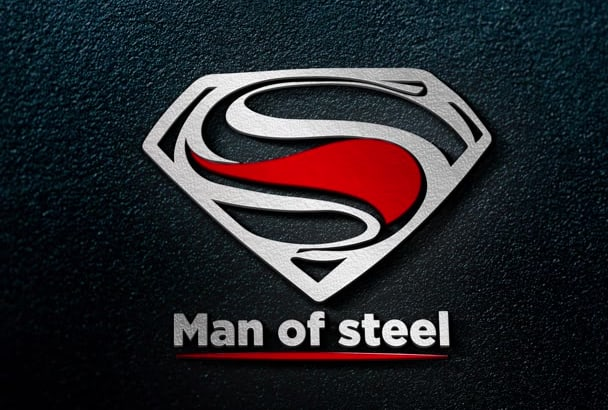 design a realistic SILVER metallic 3d logo