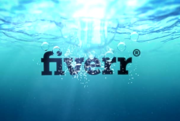 create this underwater video with your logo
