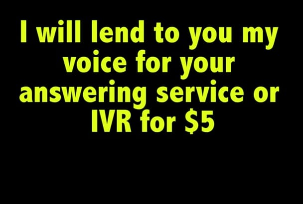 record my voice for your phone service