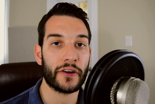 record a professional North American male voice over