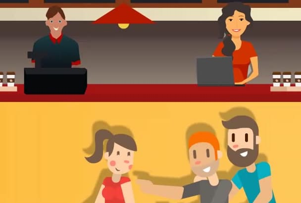 create exiting 2D Animated Cartoon and Sales Video