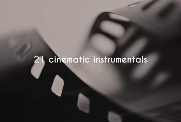 give you 21 modern cinematic royalty free instrumental songs