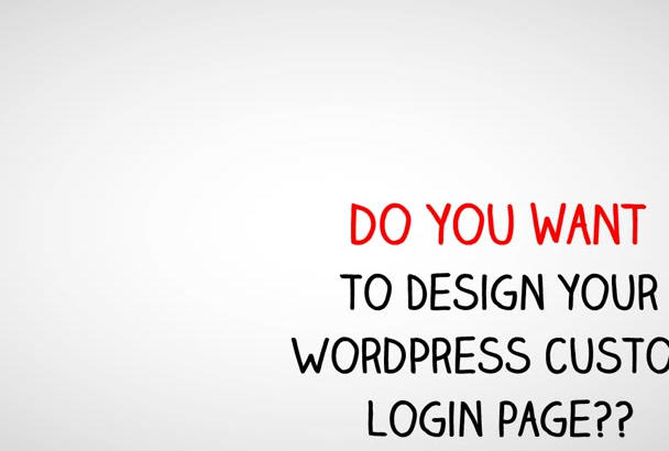 create custom login page for your wordpress