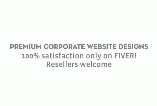 design n develop a corporate Website