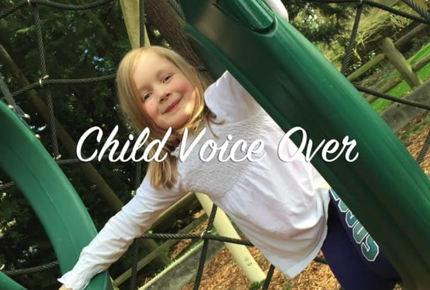 record a 100 word female child voiceover