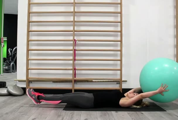 give you 30 fitness videos with Gym Ball in HD female