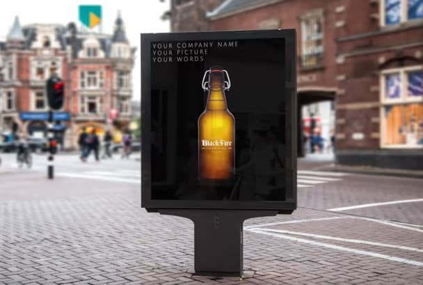 put your text , logo or photo on  BILLBOARDS at famous places virtually