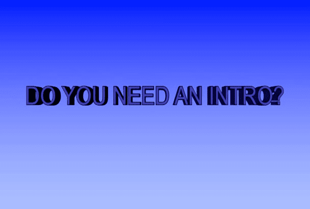 create a HD 3D Intro or Outro