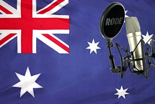 provide a DEEP Australian male voice