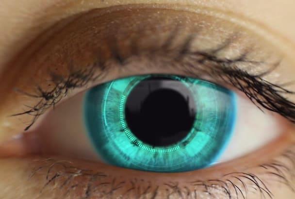create your company LOGO in eye
