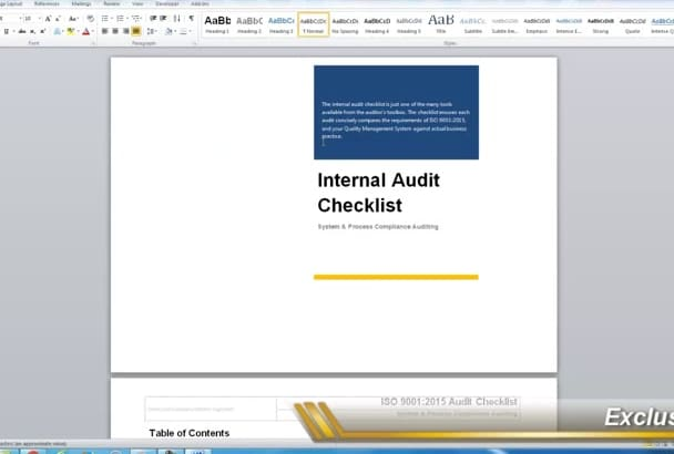 provide you the best Internal Audit Tools for ISO 9001 2015
