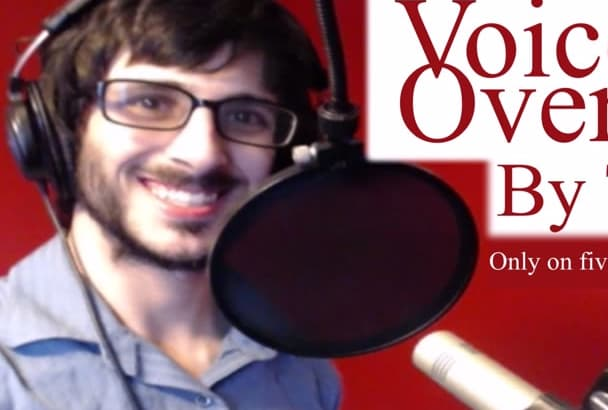 record a young adult male voice over