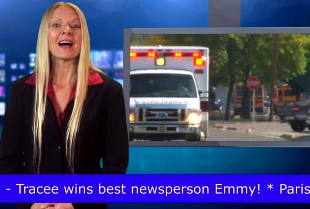 female Newscast Video Reporter