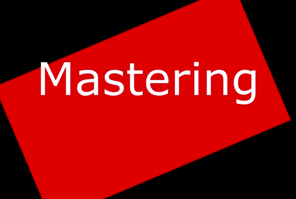 we mastering your song professionally