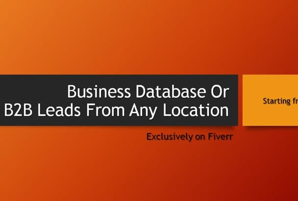 collect your targeted B2B or Business Database
