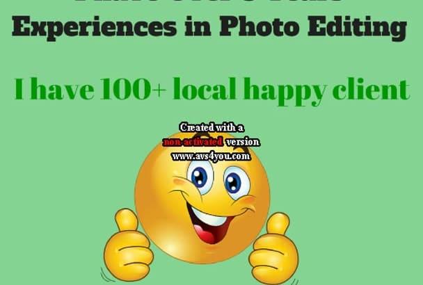 do any photoshop editing job any sarvice  within 24 hr