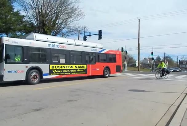 make a video on your banner or logo on a city bus