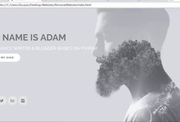 design a personal page in responsive, modern look