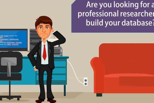 create a database using linkedin premium