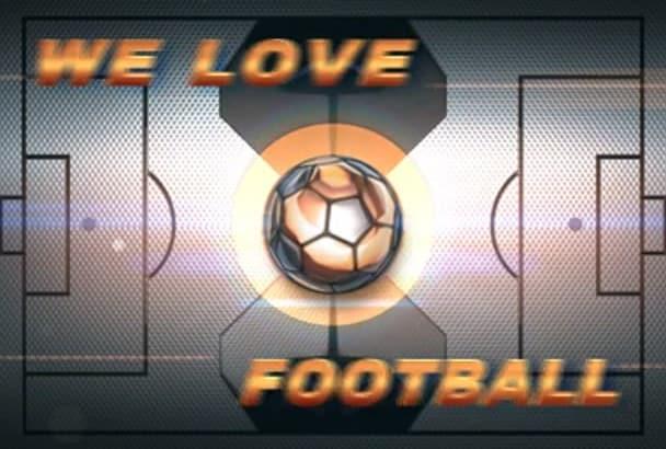 create amazing Soccer Europe, World Championship Video intro