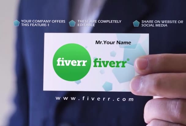 digitally Advertise your VISITING Card in my Hand