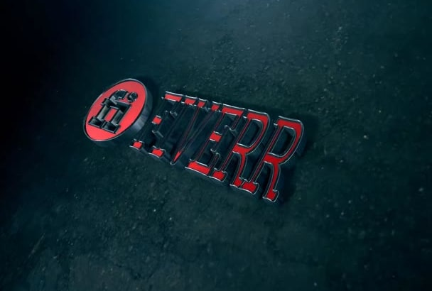 create an AMAZING sports car Logo and Text animation intro