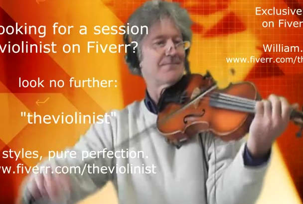 be your personal world class session violinist