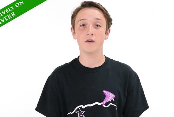 be your teen spokesperson Sebastian