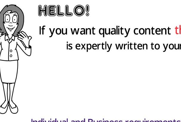 write a website content