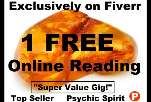 1 FrEE OnLINE PSYCHIC READiNG w this gig Get NoW OPTiON