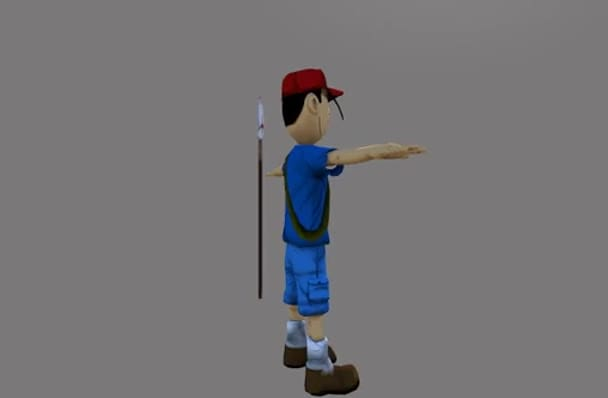 do 3D model of game asset with 3Ds Max, Zbrush, Maya