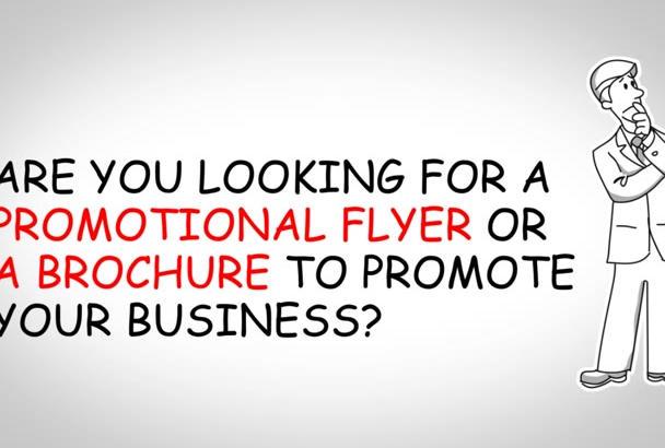 design a Professional Flyer or Leaflet, Brochure