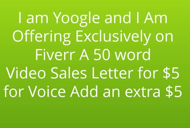 do a 100 Word Video Sales Letter