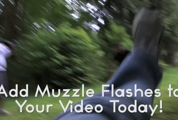 add muzzle flash visual effects to your films and videos