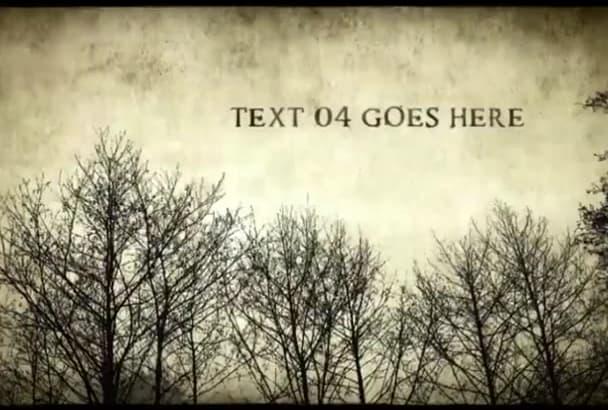 create a horror trailer video intro