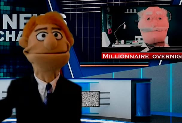 create a professional SPOKESPERSON puppet video in English or in Spanish