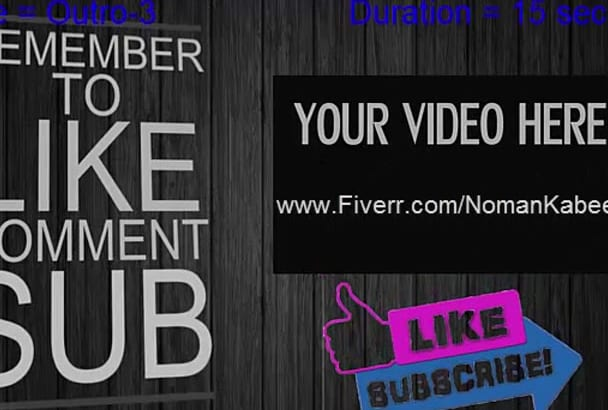 create Classy Video Intro AND Outro Animation