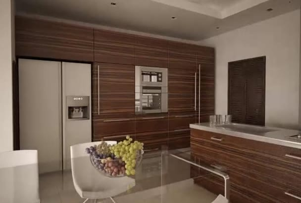 3d render your dream kitchen