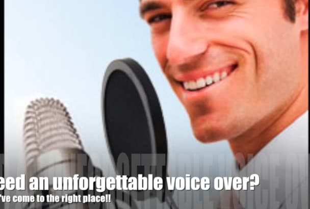 create a professional American male Voiceover