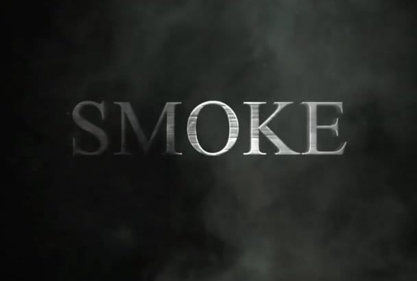 create a smoke and dust logo revealer