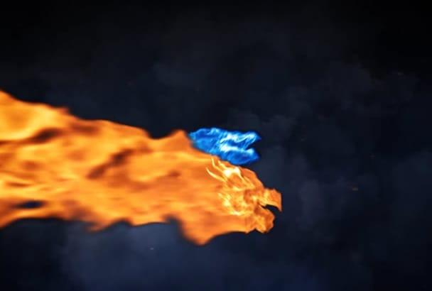 make a Cinematic Dragon Reveal Logo Intro