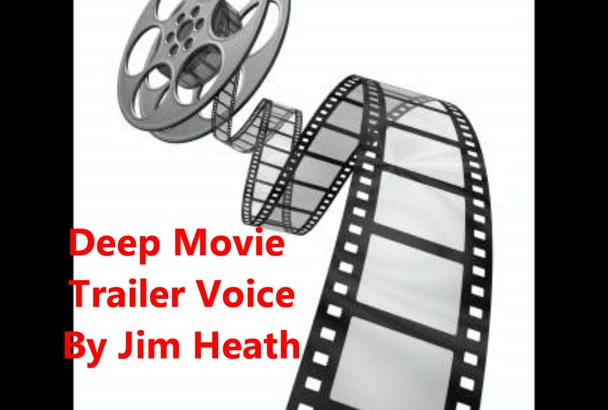 record a deep movie trailer voice
