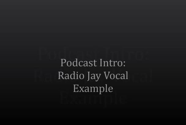 create your podcast introduction