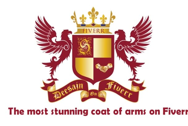 design unordinary heraldic family CREST shield logo