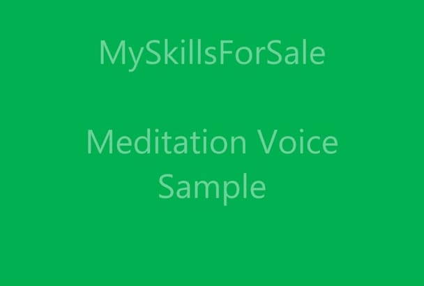 record a meditation track for you
