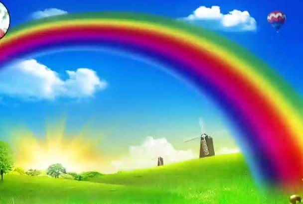 create Amazing Rainbow PowerPoint Presentation