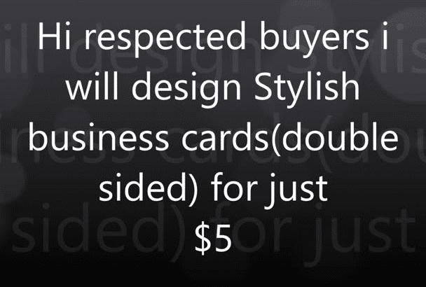 design stylish business cards