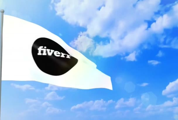 make a incredible flag animation whit your logo or text