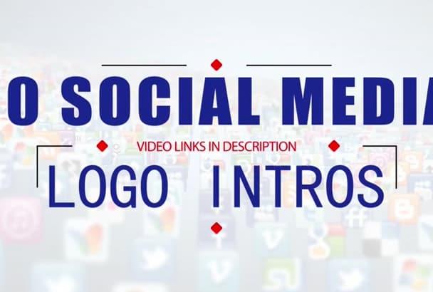 create 10 AMAZING social media logo intros